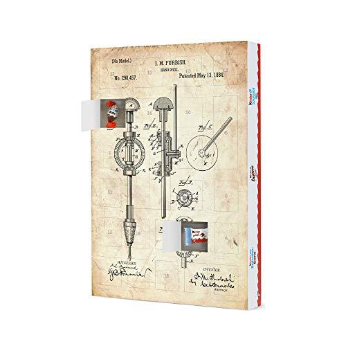 artboxONE Adventskalender XXL mit Produkten von Kinder® Handbohrer Patent (Antik) Adventskalender Für Papa