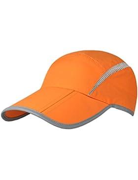 GADIEMENSS Reflective Foldable Running Cap Quick Drying Outdoor Sports UPF40+