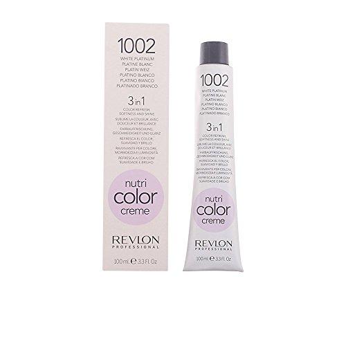 Revlon Nutri Color Creme Rubísimos, Tinte para el Cabello 002 Platino Blanco - 100 ml