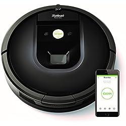 iRobot Roomba 981 - Robot aspirador para alfombras, potencia de succión 10 veces superior, cepillos de goma antienredos, Dirt Detect, conexión Wifi, programable por app, compatible con Alexa