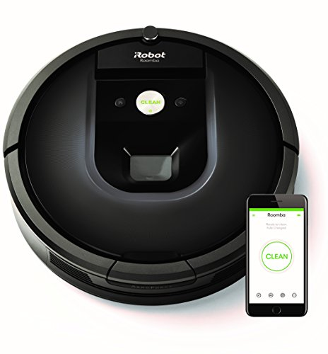 iRobot Roomba 981 Robot Aspirador para Alfombras con Potencia de Succión y Cepillos de Goma Antienredos, multi habitación, Tecnología Dirt Detect, Conexión WiFi y Programable por App, compatible Alexa