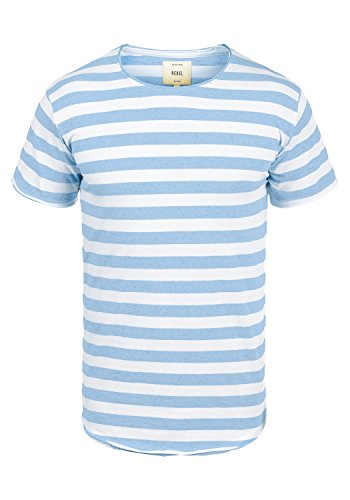 Redefined Rebel Milo Herren T-Shirt Kurzarm Shirt Streifenshirt mit  Streifen und Rundhalsausschnitt 100% 4418ca9f7c