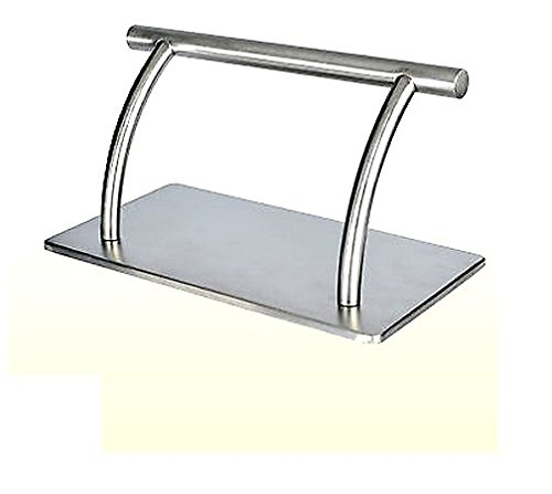 Buybysky  - Stainless Steel Foot Rest Rack for Beauty Hair Salon Barbers Tattoo Shop (1 Set / Pack)