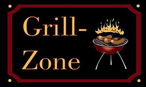 U24 Flagge Fahne Grill-Zone Grillfahne BBQ 90 x 150 cm (Grill Fahne)