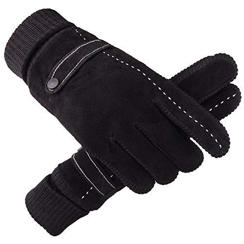 Skang handschuhe Fäustlinge Herren Winter Warme Motorrad Ski Schnee Snowboard Handschuhe Schwarz -