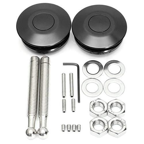 2 Stück Universal Aluminium Schnellspanner Haube Pin Push Button Billet Hood Pins Lock Klipp Auto Schnellverriegelung Motor