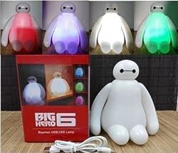 2015 New Color Changing Big Hero 6 Baymax USB LED Table Desk Lamp Light for Gift