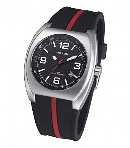 TIME FORCE Reloj Analógico para Hombre de Cuarzo con Correa en Caucho TF4015M01