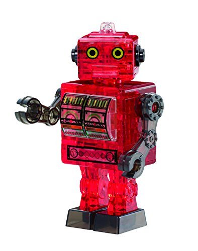 BePuzzled-Original-3D-Crystal-Tin-Robot-Puzzle-39-Piece-Red-by-Bepuzzled