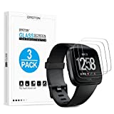 OMOTON [2 Pack Compatible with Fitbit Versa Health & Fitness Screen Protector- [9H Hardness] [Crystal Clear] [Bubble Free] Tempered Glass Screen Protector for Fitbit Versa Health & Fitness