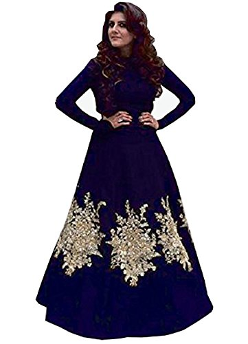 Royal Export women\'s Blue Embroidered gown