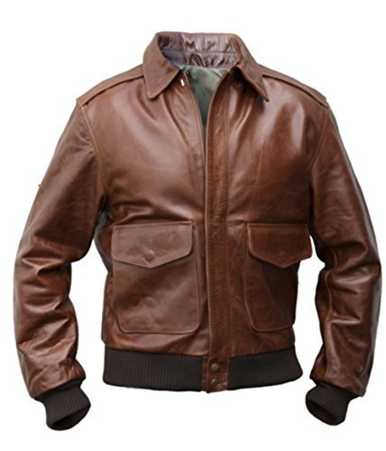 Noble House A-2 Russet Pilotenjacke Herren Lederjacke Rinderleder US Army Air Force braun