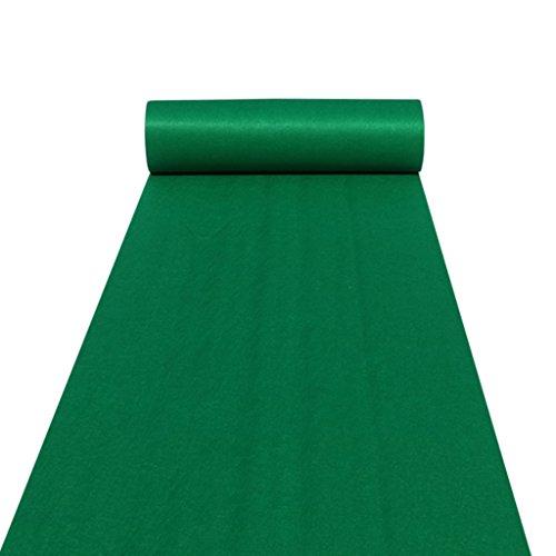 Hochzeiten Aisle Carpet Runner Teppichboden Runner für Hall Stair Party Hochzeit Carpet Runner Genuine grün (Color : Green, Size : 1.2M*20M)