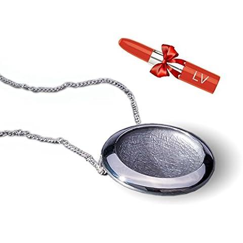 ANTONIO MIRÓ Collana circolare in argento - Elegante Girocollo con logo in rilievo - Soddisfazione Garantita - Presentazione in Sacchetto Regalo - LV Penna Rossetto inclusa!