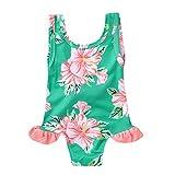 Culater Neonate Bambine per Bambina Bikini Floreali per Costumi da Bagno per Bambini Costumi da Bagno Bikini Outfits (12-18 Mesi, Verde)