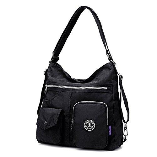 Imagen de outreo mujer bolsos de moda impermeable  bolsas de viaje bolso bandolera sport messenger bag bolsos baratos mano para tablet escolares nylon alternativa