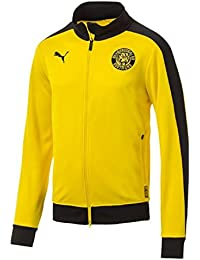 Puma BVB T7 Chaqueta, Hombre, Cyber Yellow, Large