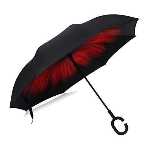 HAOYUXIANG Neuer Kreativer Doppelter Gerader Regenschirm,C