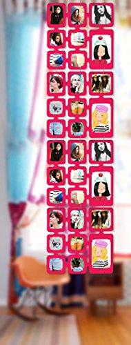 1,63 m Set Fotos Bilder Raumteiler Rahmen Collage Fotowand Kartenwand Fotovorhang Fototaschen Fotogalerie Kunststoff Fotohalter Pink