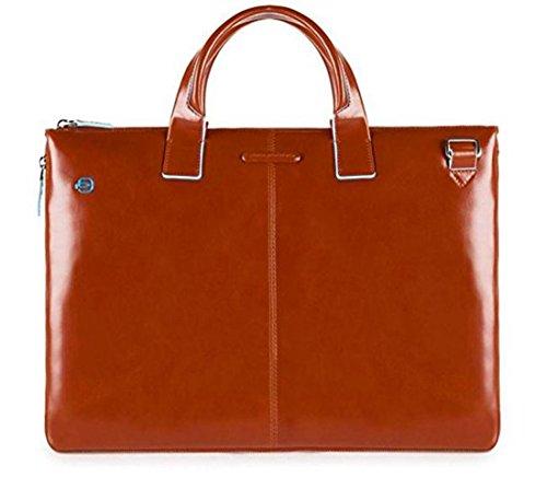 Piquadro Blue Square Schmale, erweiterbare Laptoptasche mit iPad®Air/Pro 9,7-Fach - CA4021B2 (Orange)