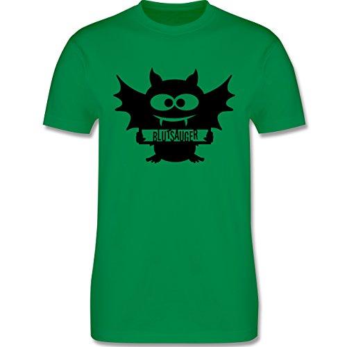 Halloween - Fledermaus - Herren Premium T-Shirt Grün