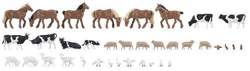 Faller 150938 36 Tiere auf dem Bauernhof H0 1:87