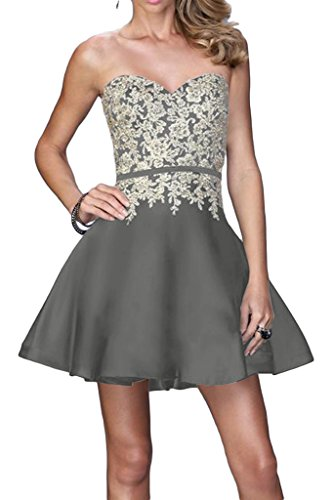 ivyd ressing robe populaire Pointe Motif forme de cœur robe a ligne Prom Party Soirée Robe Silber