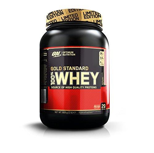 100% Whey Gold Standard 2 lbs (908g) Himbeer - weiße Schokolade