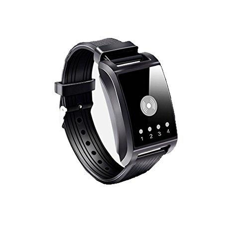 Persönliche Medizinische Alarme (Watch Alarm Wireless Watch Emergency Erinnerung Senior/Schwangere / Kinder SOS Pager,Black)