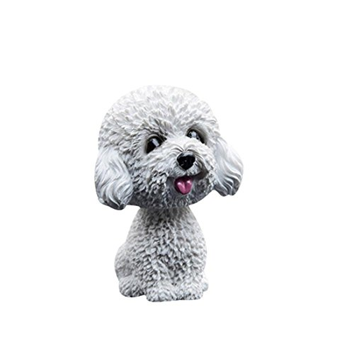 Bobble Kopf Hunde für Autos, Nicken Hund Ornamente Mini Bobble-Head Spielzeug Auto Armaturenbrett Nicken Hund für Auto Fahrzeug Dekoration -