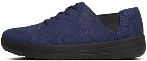 FitFlop F-sportive Espadrilles Lacets Marine Minuit Serpent Midnight Navy