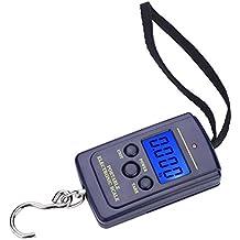 Escala de Pesca electrónica Digit portátil 40 kg Equilibrio Colgando del Equipaje función múltiple para la