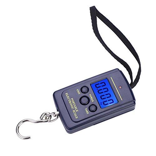 Yanmeer 40Kg LCD Balance Electronique Numérique Balance Portative Electronique de Pêche Peson Numérique Portatif pour Voyage Pêche et Archerie Grand Crochet etc