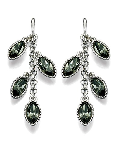 Fiorelli Allegory: mehrere Swarovski-Elements-Navette Steine in blackdiamond mit Paspelierung, Metall