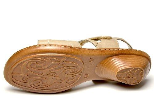 Remonte Dorndorf R1660-15 Damen Sandale, Klettverschluß, braun (beige) Braun kombi (beige)