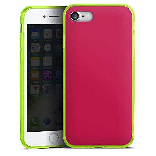 Apple iPhone 8 Silikon Hülle Case Schutzhülle Bordeaux Rot Red Silikon Colour Case neon-grün