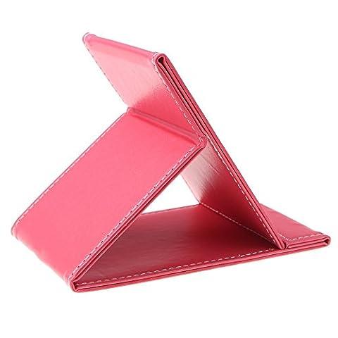 Ohcde Dheark Portable Pliable Multi-Fonctionnelle Pour Miroir De Maquillage Cosmétique Voyage(Rose)