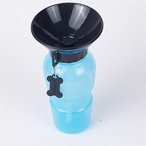 GXY–Wasserflasche für Hunde Wasserspender, tragbar Trinkflasche mit Tränke für Hunde, Katzen (Kunststoff-gewand)