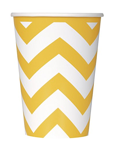 paper-cups-12oz-6-pkg-sunflower-yellow-chevron