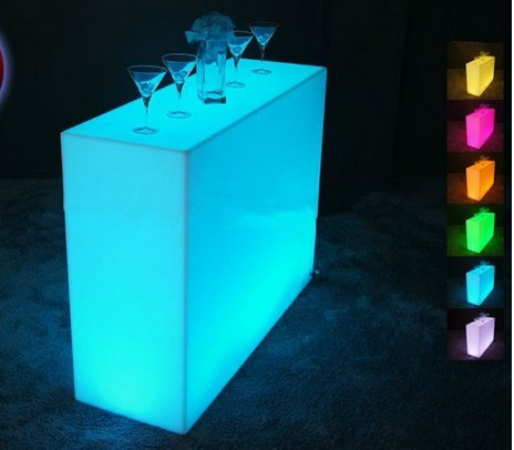 Preisvergleich Produktbild Gowe Luminous Fernbedienung LED Bar, Break Bar, LED Break Line Bar Tisch, wiederaufladbar rundbar LED Bartresen Möbel