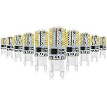 Mininono 5W Bombillas LED G9 Blanco Neutro 4000K, 40W Halógena 400lm No regulable Lámparas Iluminación