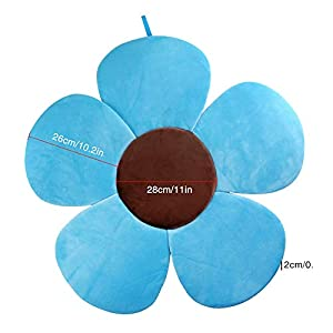 DANMEI Baby Bath Mat Soft Flower Bath Mat Seat Support Foldable Petal Plush Cushion for Baby Bathtub