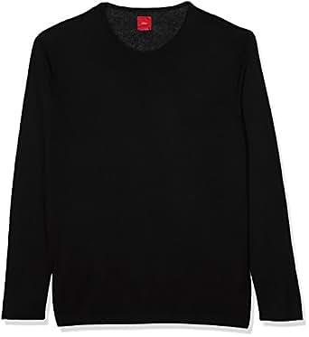 s.Oliver Big Size Herren Pullover 15709614347, Schwarz (Black 9999), XXXX-Large