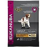 Eukanuba Adult kleine und mittelgroße Rassen Lamm & Reis, Trockenfutter für erwachsene Hunde,  Probiergröße, Einzelbeutel, 100 g