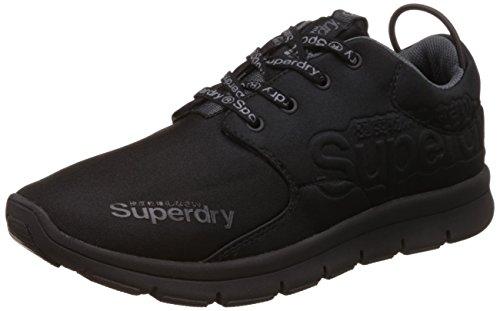 Superdry Scuba Runner, Scarpe da Corsa Uomo, Nero (Black/Black 16A), 45 EU