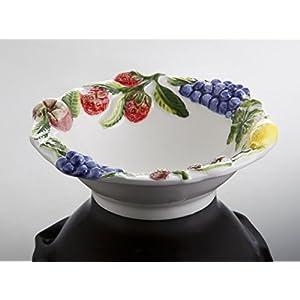 Bassano italienische Keramik runde mediterranes Obstschälchen, Müslischale 16x5