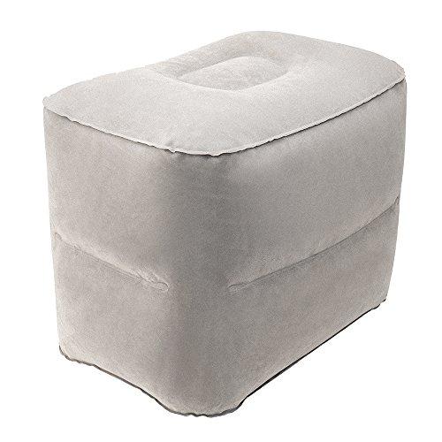 Aufblasbares Fußstützkissen von Librao - tragbare Fußstütze und Beinauflage für Reisen, Büro, zu Hause oder einfach zum Entspannen 2 layer (Haus-aufblasbare)