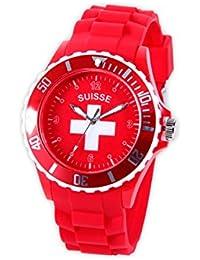 Montre bracelet silicone Viper couleur drapeau modèle sport , choisir:UR-CH Suisse