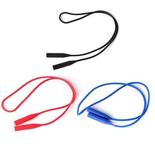 3drei Farbe Silikon Sonnenbrille keepers-sunglass Halter Gurt keine Schwanz verstellbar Eyewear Retainer