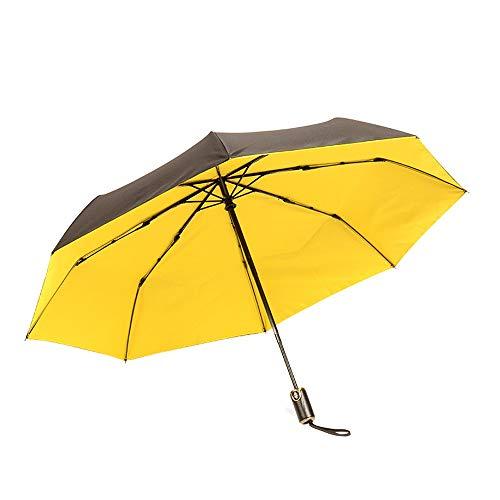 Taschenschirm Compact Parasol Mit 95% UV-Schutz für Sun Rain Double Canopy,Grille Schuhe (Color : Gelb, Size : Kostenlos) ()